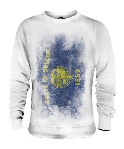 Oregon État Décoloré Drapeau Unisexe Pull Oregonian T-Shirt Jersey Cadeau
