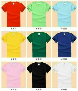 Tops-Cotton-blank-round-neck-short-sleeve-T-shirt-custom-casual-men-039-s-shirts