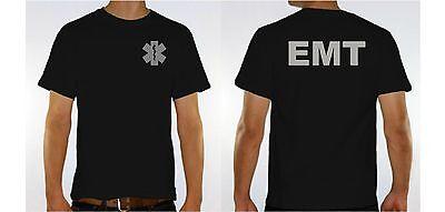 "EMT Paramedic reflective Safety T Shirt ""CHEAPEST SELLER ON EBAY"" Gildan s,m,L"