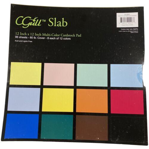 96 Sheet Cardstock Slab Pack 12 Colors