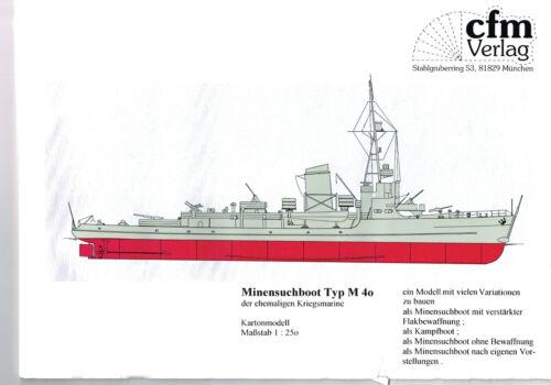 M 261 M 501 M 40 Kriegsmarine bis 1945 HOCHSEE MINENSUCHBOOT