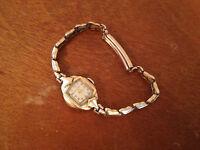 Vintage Bulova 10 Karat Gold Plated 21 Jewel Ladies Watch Adjustable Band