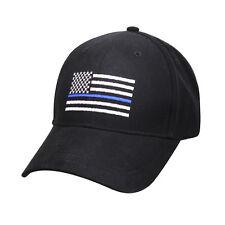82c03893a1c Thin Blue Line Flag Low Profile Police Baseball Cap Law Enforcement Hat  99885