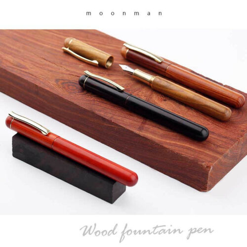 Moonman M3 Wood Fountain Pen Smooth Extra Fine 0.38mm Nib Writing Gifts For Him