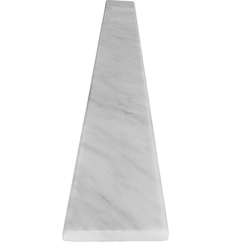4 x 24 Saddle Threshold Asian Carrara Marble Stone Door or Shower Curb
