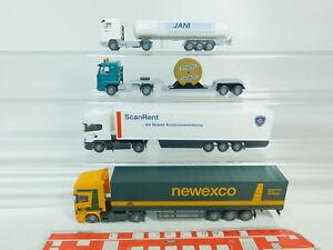BO708-0-5-4x-Wiking-H0-1-87-Sattelzug-Scania-Siemens-Jani-Newexco-etc-NEUW