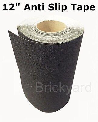 "2/"" x 60/' BLACK Roll Safety Non Skid Tape Anti Slip Tape Sticker Grip Safe Grit"