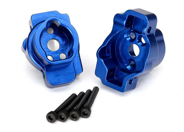 Portal drive axle mount, rear 6061-T6 aluminum blu-anodized Traxxas  TRA8256X  marchi di moda