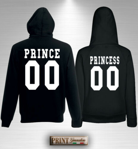 HOODED SWEATSHIRT PRINCE, PRINCESS with SIZE Personalized Gift Valentine's Day