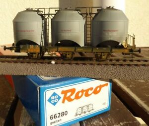 Roco-66280-H0-Kohlenstaub-Silowagen-Zkod-le-Dr-Ep-3-Vielli-IN-Ovp-Rares-Sose