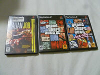 PLAYSTATION 2 GAME LOT OF 3 GAMES GRAND THEFT AUTO VICE CITY III THE ITALIAN JOB