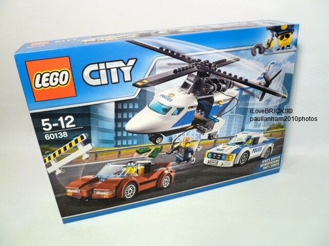 LEGO CITY HIGH-SPEED CHASE SET SET SET 60138 WITH 4 MINIFIGURES BRAND NEW IN SEALED BOX 797781