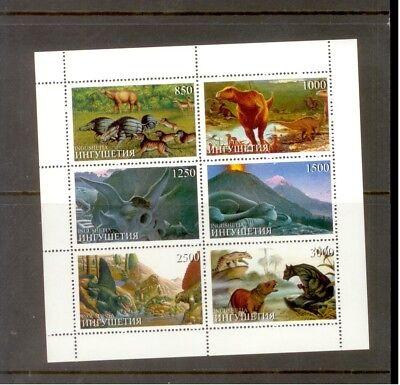 *a334 Ingushetia Prehistoric Animals Dinosaurs (block) Mnh