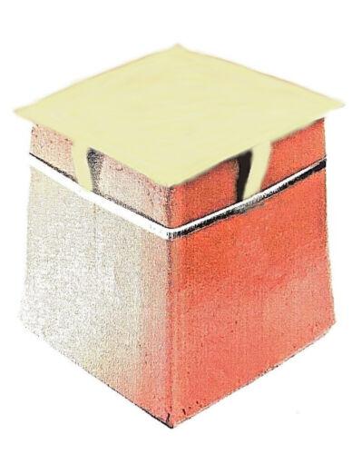 """Carrés Standard cheminée pot capping Cowl Buff pour pots 8-10/"""""""