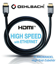 OEHLBACH  Black Magic 1000 / 10m / 3D HDMI-Kabel Ethernet für 1.4 / Für HDTV Neu