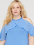 Lane-Bryant-Solid-Ruffled-Turquoise-halter-Top-PLUS-Size-14-16-18-20-22-24-26-28 thumbnail 5