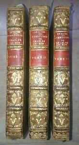 MAYER-1786-Aventures-et-Plaisante-Education-Du-Chevalier-CHARLES-LE-BON-3-VOL