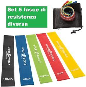 FASCE ELASTICI Fasce Elastiche Bande Allenamento Fitnesst Palestra Resistenza