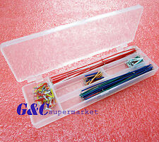 2pcs 140pcs Solderless Breadboard Jumper Cable Wire Kit Box Diy For Arduino M98
