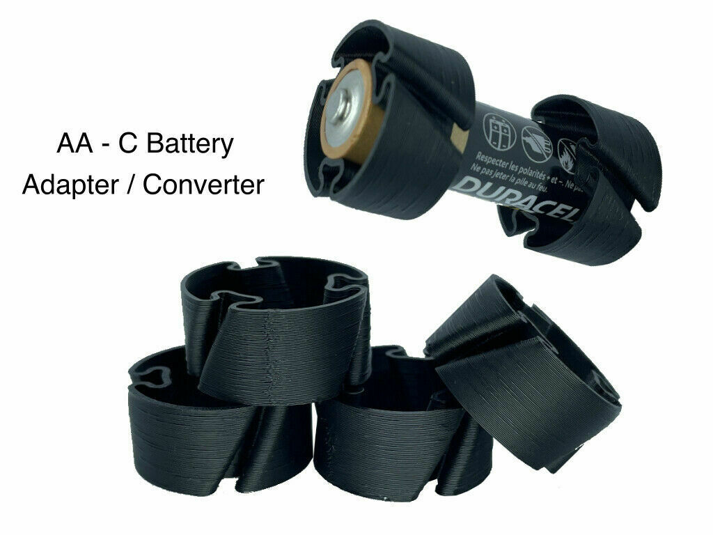 AA to C Size Battery Converter - (x1 x2 x5 x10 x20) Battery Adapter