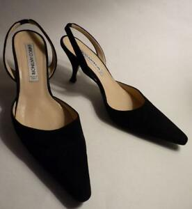 Enrico 5 zwarte schoenen suede slingback Antinori 37 5jcL43ARq