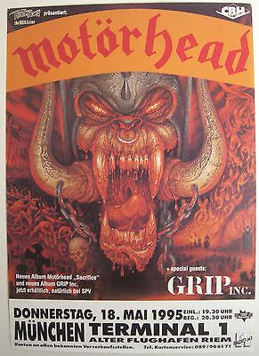 MOTORHEAD CONCERT TOUR POSTER 1995 SACRIFICE