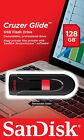 SanDisk 128GB Cruzer GLIDE USB Flash Pen Drive SDCZ60-128G-B35 Sealed Retail Pk
