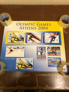 POSTER-AUSTRALIA-POST-BOXING-KANGAROO-STAMPS-OLYMPICS-ATHENS-STAMP-2004