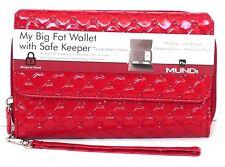 Mundi Women Faux Leather MY BIG FAT WALLET Ladies RFID Clutch Red I754X