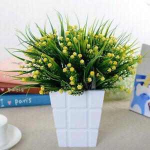 k nstlich pflanze gypsophila gras blumen aus kunststoff b ro zimmer wohung dekor ebay. Black Bedroom Furniture Sets. Home Design Ideas