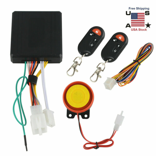 New Motorcycle Scooter Atv Security Alarm System Anti