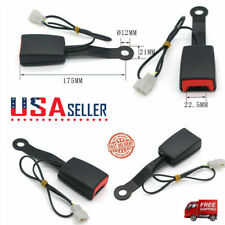 Car Front Seat Belt Buckle Socket Plug Connector Warning With 7 Cable Camlock Fits Toyota