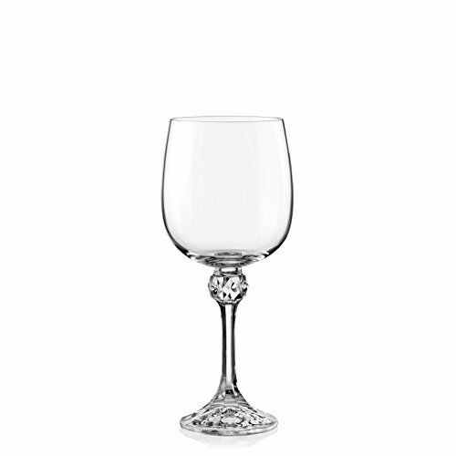 Crystalex Julia Red 11-Ounce White and Porto Wine Glasses Set of 6