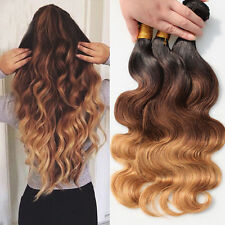 "Brazilian Body Wave Virgin Human Hair Ombre 12""12""14"", 300g"