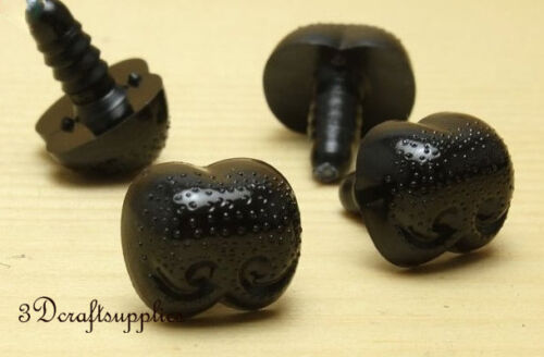 toy safety doll Noses plastic toy dolls craft 16 pcs black 18 mm EA62