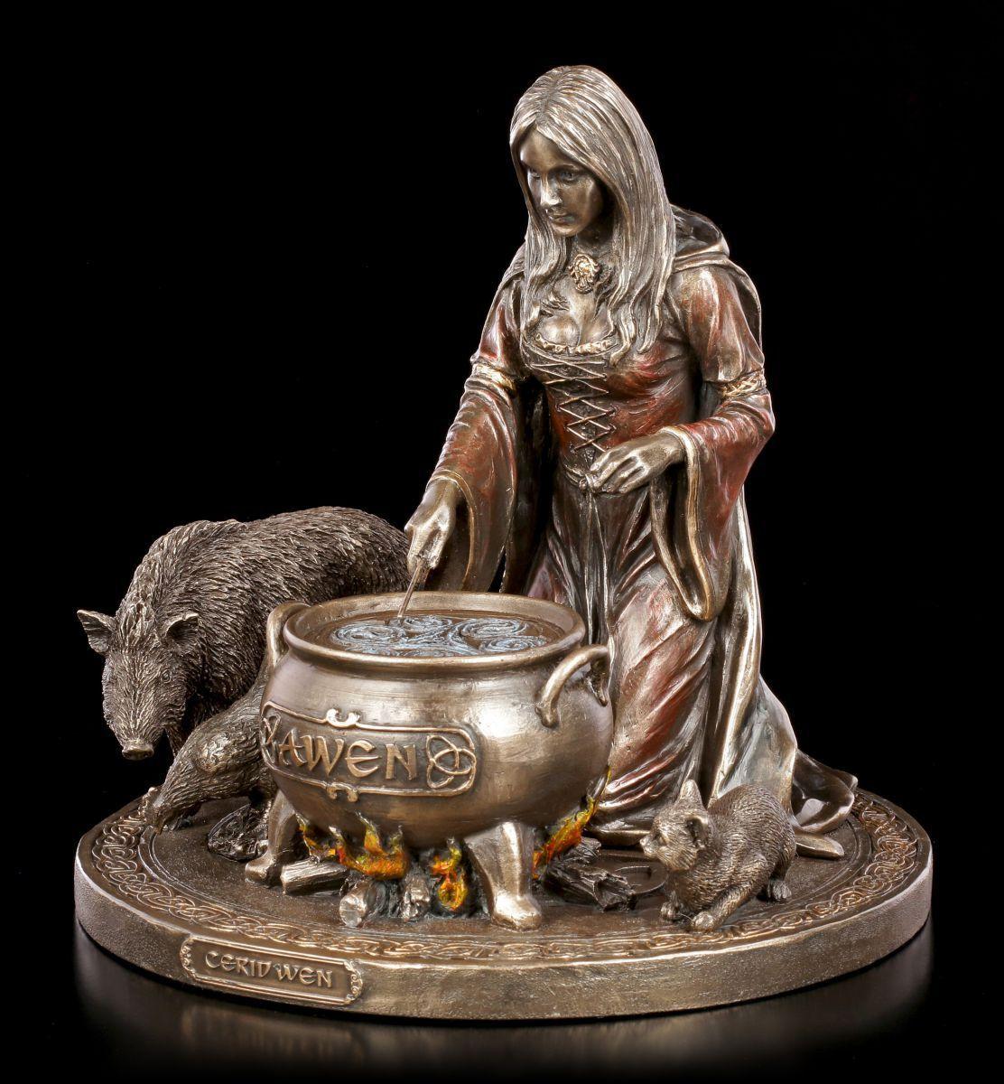 Ceridwen Figur - Keltische Gottheit der Fruchtbarkeit - Verones Göttin Wales