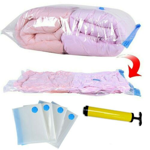 Space Saver Saving Storage Bags Vacuum Seal Compressed Organizer Bag /& Pump