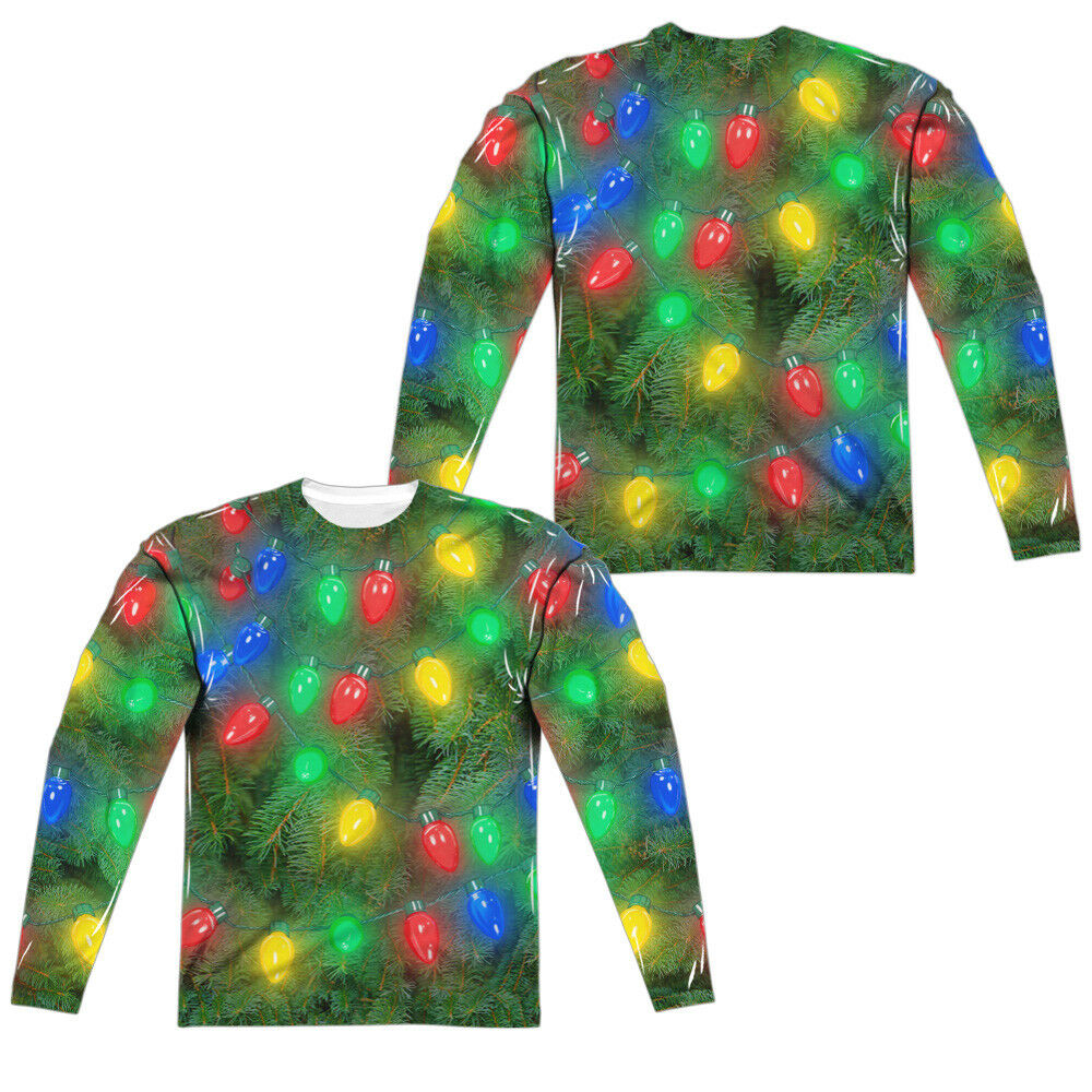 OH CHRISTMAS TREE COSTUME Adult Men's Long Sleeve Tee Shirt SM-3XL Halloween