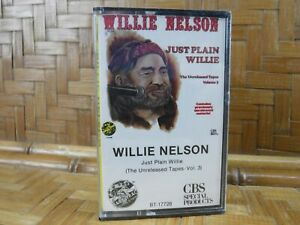 Vintage-Cassette-Tape-WILLIE-NELSON-Just-Plain-Willie-Unreleased-3-NEW-SEALED
