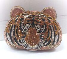Multi Color~Tiger~Handmade High Quality Austria Crystal Evening Purse Clutch Bag
