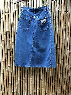 "0e54f1048a Vintage Levis PLOWBOY Farmers Mechanics and Miners Denim Jean 70s SKIRT 24""  XS"