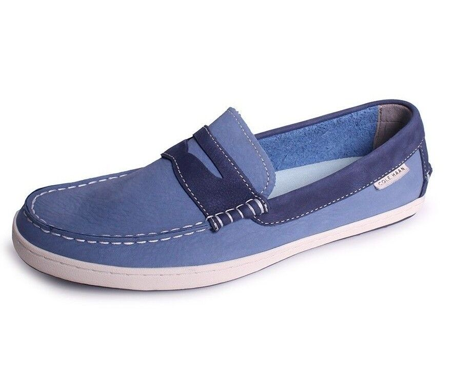 COLE HAAN bluee PINCH WEEKENDER PENNY LOAFER SUEDE SHOES - 10.5