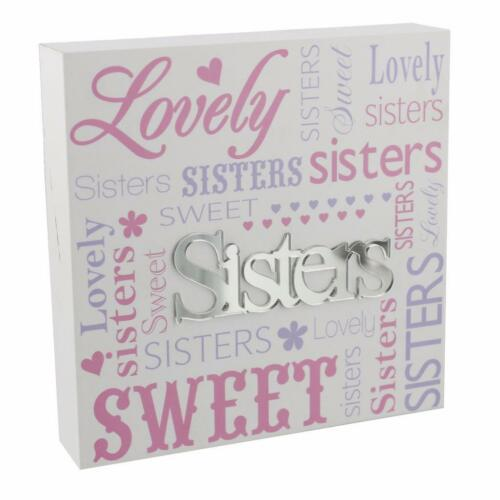 Lovely sister sentimental wall plaque gift new boxed 61220