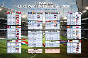 Größe 91,5x61 cm Kalender Poster Plakat Druck Schuljahresplaner 2019//2020