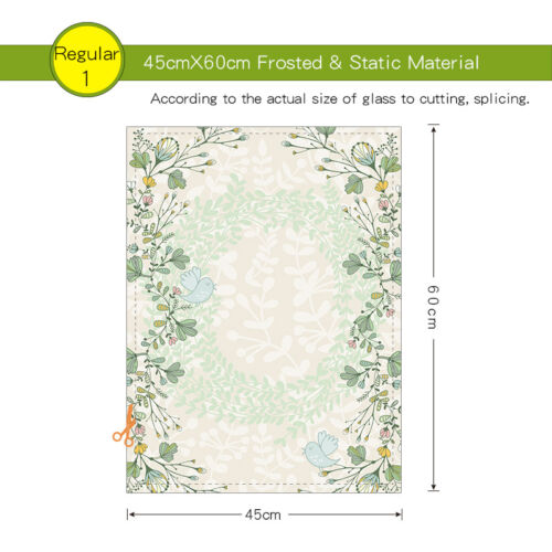 Wait flower Static Cling Glass Window Film Privacy Frosted Opaque Glass Sticker