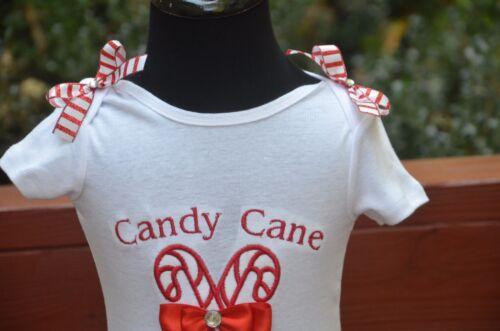 4T Christmas Candy Cane Cutie ribbon and lace trim tutu outfit dress set 6m