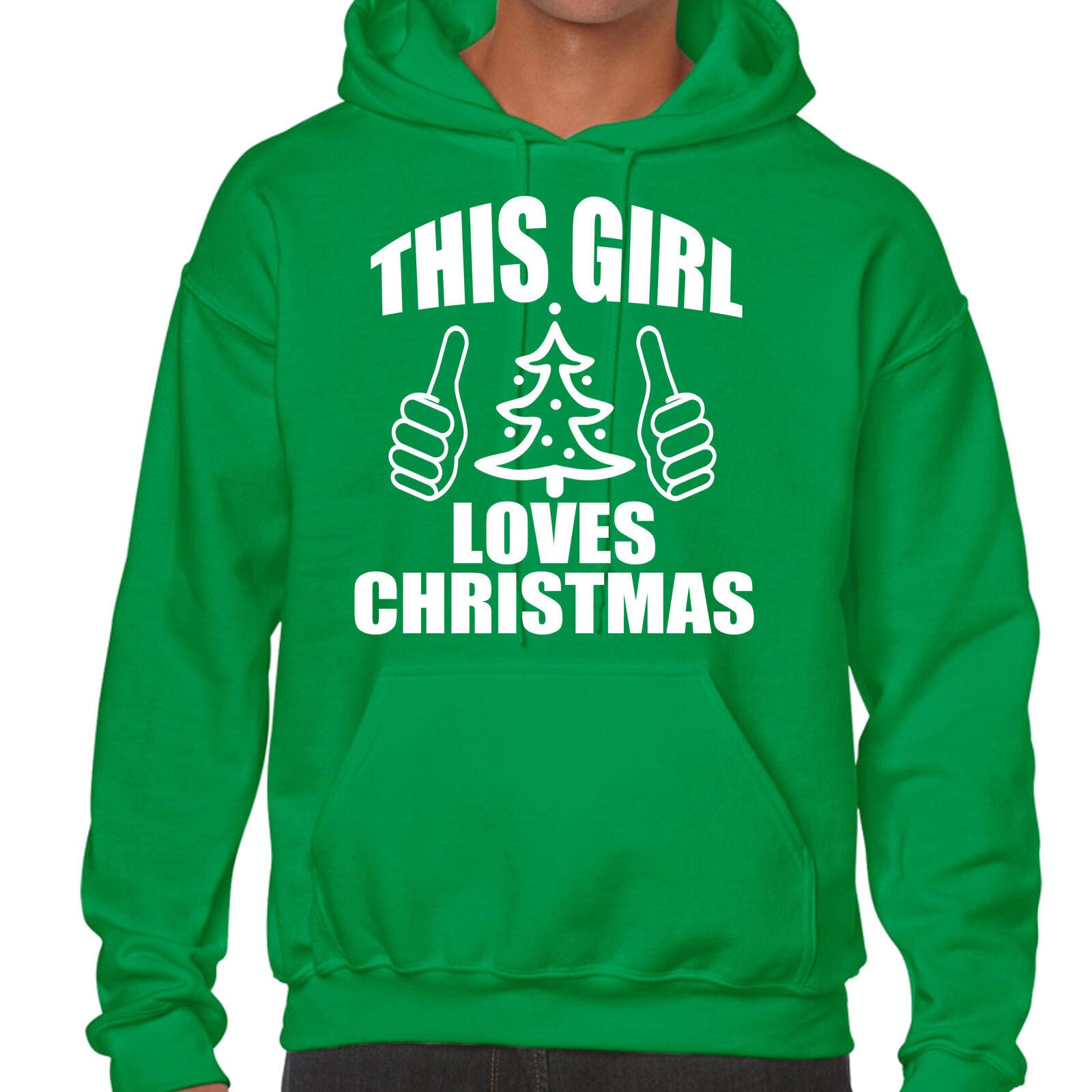 grabmybits - Noël CETTE FILLE Loves Noël - Capuche - Noël pull, tricot, cadeau f3bd56