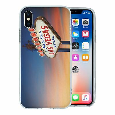 For Apple Iphone Xs Silicone Case Landscapes Las Vegas S996 Ebay