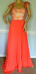 Silvia-Tcherassi-Gotemburg-Sequin-Embroidered-Maxi-Long-Gown-Dress-US-4-6-SMALL