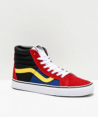 Envolver Vagabundo Jane Austen  NEW Vans Sk8-Hi OTW Rally Reissue Chili Red, Black & White Skate Shoes c1 |  eBay